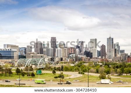 Denver cityscape, Colorado Capitol City, USA - stock photo