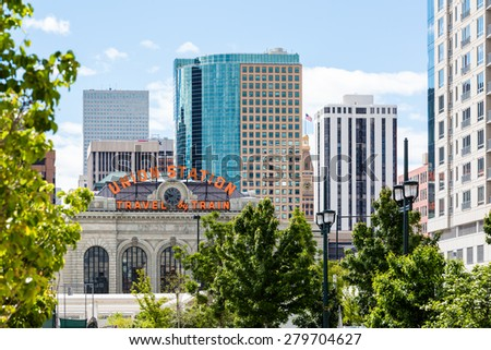 Denver, Colorado, USA-May 17, 2015. Historial Union Station after redevelopment in Denver, Colorado.
