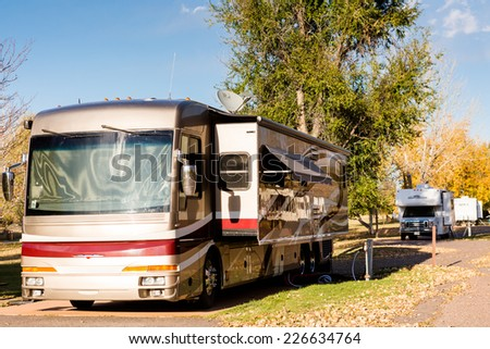 Denver, Colorado, USA-October 26, 2014. Camping in late Autumn in Colorado.