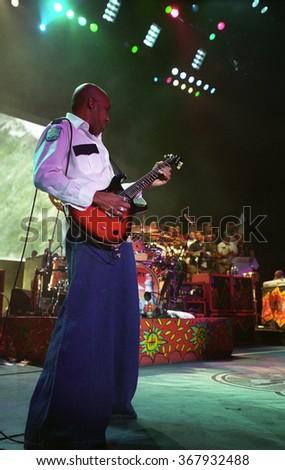 DENVERJUNE 19:Guitarist Vic Johnson performs June 19, 2002 at Fiddlers Green Amphitheater in Denver, CO.  - stock photo