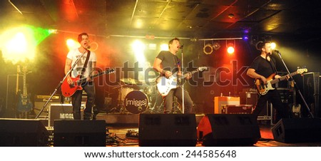 DENVER	JUNE 26:		Rock band Miggs performs in concert June 26, 2014 at the venue Ecks in Denver, CO. - stock photo