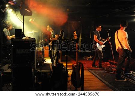 DENVERJUNE 26:Rock band Miggs performs in concert June 26, 2014 at the venue Ecks in Denver, CO. - stock photo