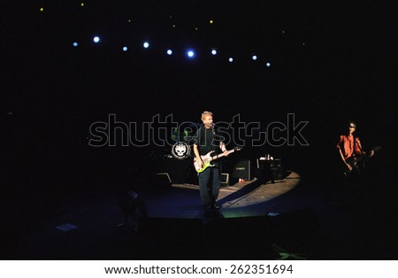 DENVERMAY 11:Alternative band The Offspring performs in concert May 11, 2001 at Red Rocks Amphitheater in Denver, CO.  - stock photo
