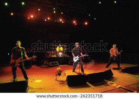 DENVER	MAY 11:		Alternative band The Offspring performs in concert May 11, 2001 at Red Rocks Amphitheater in Denver, CO.  - stock photo