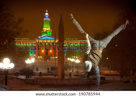 Denver's City and County Building, Night - stock photo