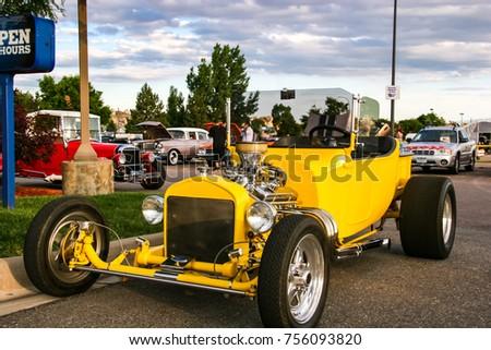 DENVER USA JUNE Classic Stock Photo Royalty Free - Classic car show denver