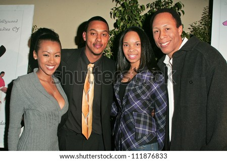 Denyce Lawton, Wesley Johathan, Cherie Johnson and Van Elder at the Top X Calendar Release Pre-Oscar Party hosted by Denyce Lawton and Wesley Jonathan, Loggia, Hollywood, CA 02-23-07