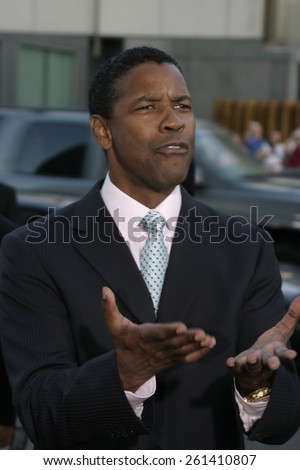"Denzel Washington at the Los Angeles premiere of ""The Manchurian Candidate"" held at the AMPAS in Beverly Hills, California United States on July 22, 2004."