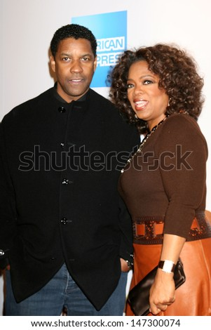 "Denzel Washington & Oprah Winfrey ""The Great Debaters"" Premiere ArcLight Cinerama Dome Theater December 11, 2007 Los Angeles, CA - stock photo"