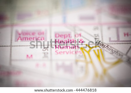 Department of Health and Human Services. Washington D.C. USA - stock photo