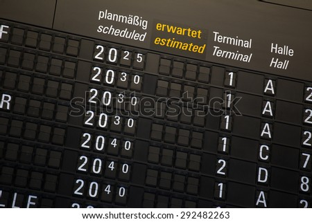 departure chart at the airport