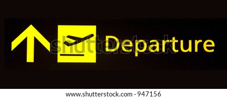 departure sign - stock photo
