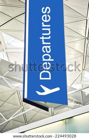 Departures - stock photo
