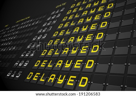 Departures list on digitally generated black mechanical board