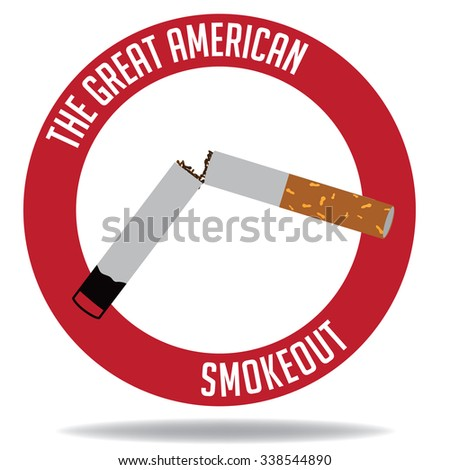 Depiction of the Great American Smokeout day in November. royalty-free illustration.
