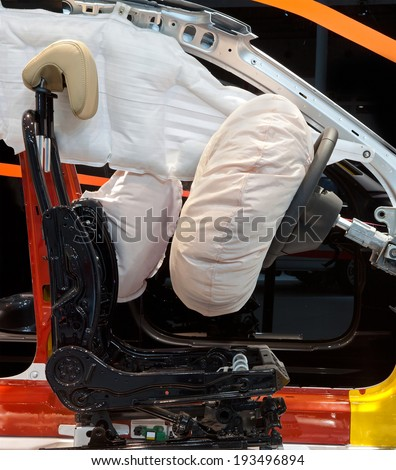 Deployed Airbags - stock photo