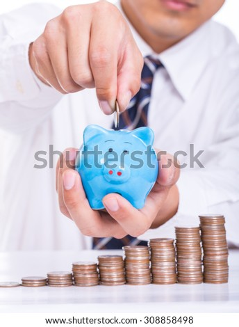 Deposit money for investment your business. - stock photo