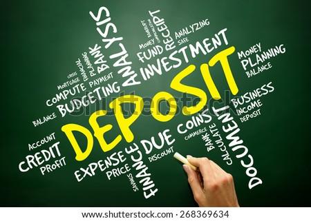 DEPOSIT word cloud, business concept - stock photo