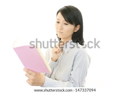 Depressed business woman. - stock photo