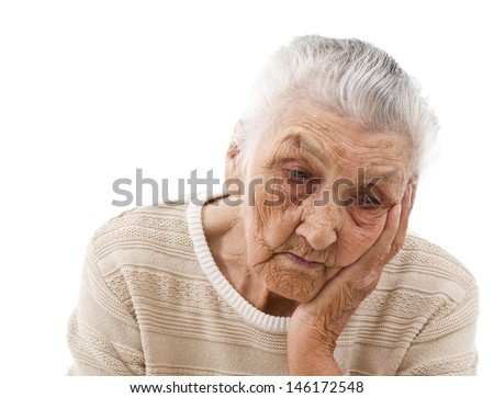 depressed old lady's portrait
