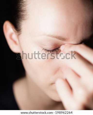 Depressed woman. - stock photo
