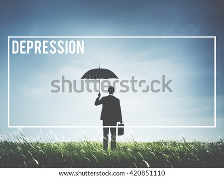Depression Financial Crisis Debt Failure Concept - stock photo