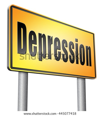 Depression or nervous breakdown disorder of mental health psychotherapy diagnosis for therapy depression. - stock photo
