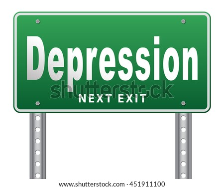 Depression or nervous breakdown disorder of mental health psychotherapy diagnosis for therapy depression. 3D illustration, isolated, on white  - stock photo