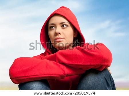 Depression, Sadness, Women. - stock photo
