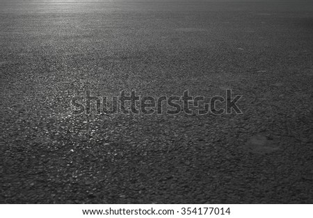 depth of horizontal asphalt road view - stock photo