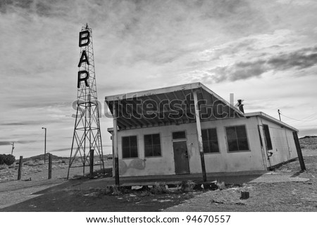 Derelict Bar on Route 66
