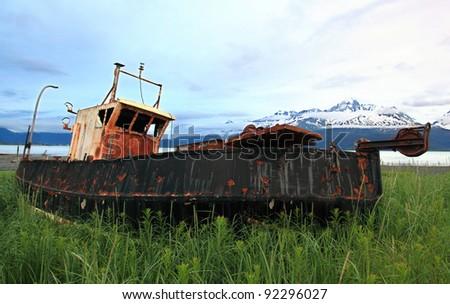Derelict Ship - stock photo