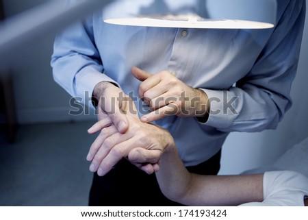 Dermatology, Symptomatology Elderly Person - stock photo