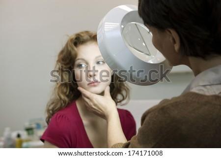 Dermatology, Symptomatology, Woman - stock photo