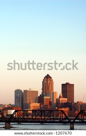 Des Moines, Iowa, skyline - stock photo