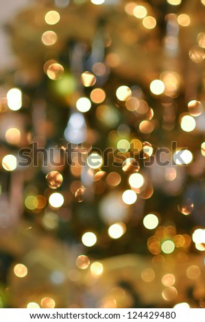 desaturated blurred abstract background Christmas lights - stock photo