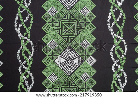 Description:  Green, white and black Polynesian background. Title:  Green Hawaiian Background  - stock photo