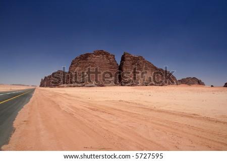 Desert and mountains - stock photo