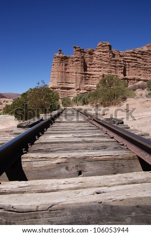 Desert, andean landscape near Tupiza, Bolivia - stock photo