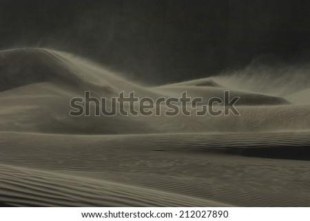 Desert at Night - stock photo