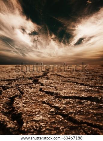 Desert background - stock photo