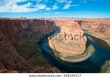 desert background and the horseshoe bend