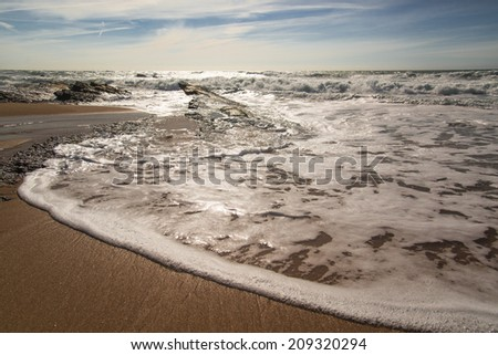 Desert beach - stock photo