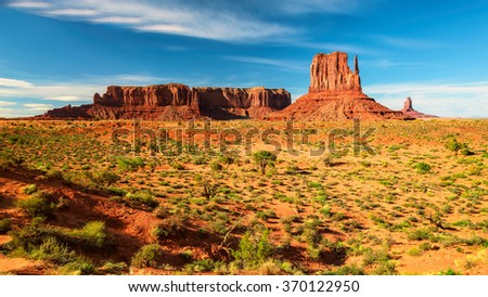 Desert canyon in USA - Monument Valley, Arizona - stock photo