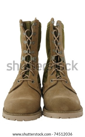 Desert combat boots used by US and UK soldiers