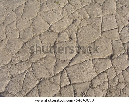 Desert cracked ground - stock photo