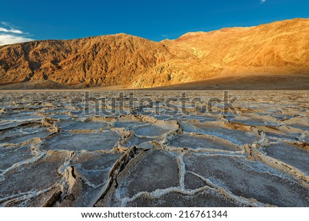 Desert, Death Valley,  Lake Badwater, California, USA - stock photo