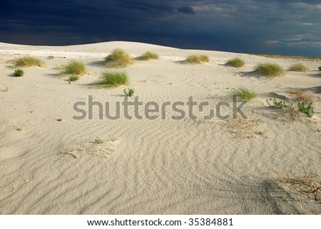 desert dune, former aral lake - stock photo
