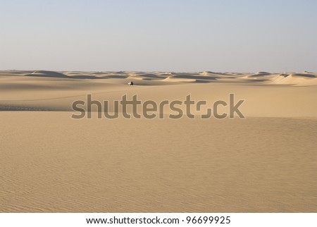 Desert dunes - stock photo