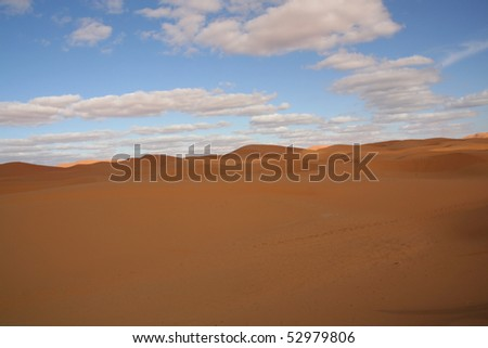 Desert dunes, Morocco - stock photo